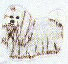 JKM Long Haired Dog Applique (Stick On)