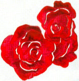 JKM Large Rose Bloom Applique (Stick On)