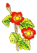 JKM Red/Yellow Flower Applique (Iron On)