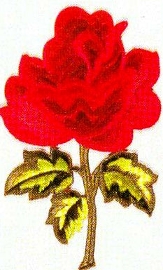 JKM Large Rose on Stem Applique (Stick On)