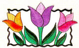 JKM Large Tulips Applique (Stick On)