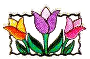 JKM Small Tulips Applique (Iron On)