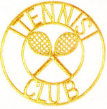 JKM Gold Tennis Club Applique (Stick On)
