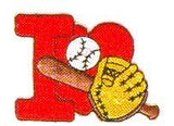 JKM Red I Love Baseball Applique (Stick On)
