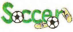 JKM Green Soccer Applique (Iron On)