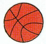 JKM Large Basketball Applique (Stick On)