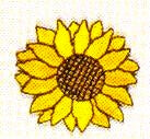 JKM Small Single Sunflower Applique (Iron On)
