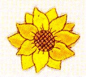 JKM Medium Single Sunflower Applique (Stick On)