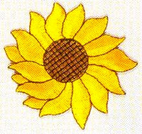 JKM Extra Large Single Sunflower Applique (Iron On)