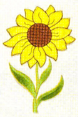 JKM Sunflower Applique (Stick On)