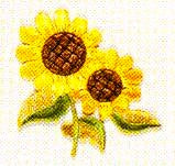 JKM 2 Sunflowers Applique (Stick On)