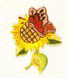 JKM Sunflower/Butterfly Applique (Stick On)