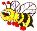 JKM Bumble Bee Applique (Stick On)