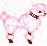 JKM Small Pink Poodle Applique (Stick On)