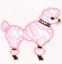 JKM Medium Poodle Applique (Iron On)