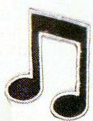 JKM Black Music Notes Applique (Iron On)