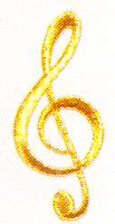 JKM Medium Gold Treble Cleff Applique (Stick On)