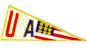 JKM USA Pennant Applique (Stick On)