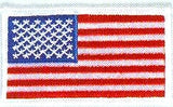 JKM American Flag with Merrow Edge Applique (Iron On)
