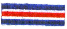 JKM Blue & White and Red Stripe Banner Applique (Stick On)