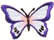 JKM Blue Butterfly Applique (Iron On)