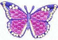 JKM Purple/Fuchsia Butterfly Applique (Stick On)