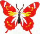 JKM Red Butterfly Applique (Iron On)