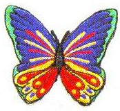 JKM Medium Multi Butterfly Applique (Iron On)