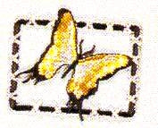 JKM Yellow Butterfly in Frame Applique (Iron On)