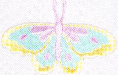 JKM Aqua/Pink/Yellow Pastel Butterfly Applique (Iron On)