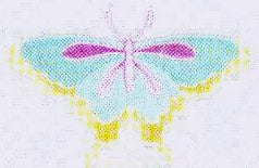 JKM Aqua Pastel Multi Butterfly Applique (Iron On)