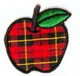 JKM Large Plaid Apple Applique (Stick On)