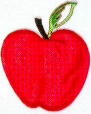 JKM Large Red Apple Applique (Iron On)