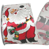 JKM Santa Candy Cane Jolly Ribbon Wire Edge