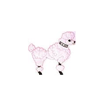 JKM Extra Large Pink Poodle Applique Stick On