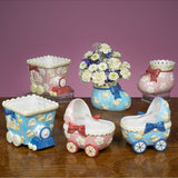 JKM Baby Buggy Bootie Train Planter