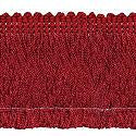 Wrights Red Chainette Fringe - 2""