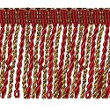 Wrights Red/Gold Metallic Bullion Fringe - 2""
