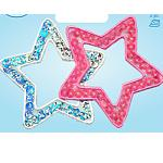 Wrights Silver/Pink Stars