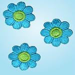 Wrights Small Flower Green/Blue
