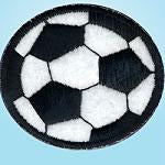 Wrights Large Soccerball Black/White