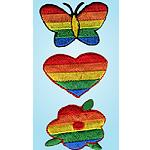 Wrights Rainbow Flower/Heart/Butterfly