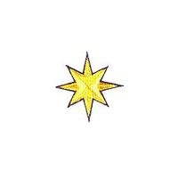 JKM 8 Point Gold Star with Blue Outline Applique Iron On