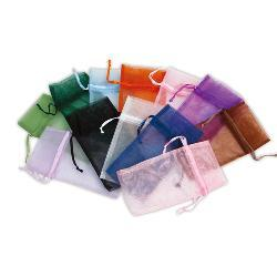 "JKM Organza Pouch Rectangle - 6""x14"" ; 12 Pcs"