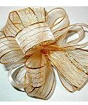JKM Metallic Organza Stripe Ribbon