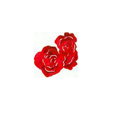 JKM Large Rose Bloom Applique Stick On