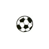 JKM Large Soccer Ball Applique Iron On