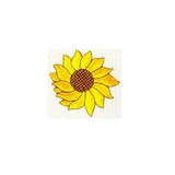 JKM Extra Large Single Sunflower Applique Iron On