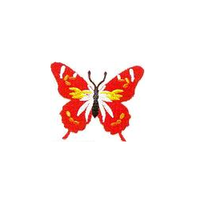 JKM Red Butterfly Applique Stick On