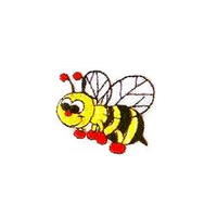 JKM Bumble Bee Applique Stick On